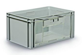 bacs plastique avec ouverture frontale ou lat rale 600x400mm schoeller arca system. Black Bedroom Furniture Sets. Home Design Ideas